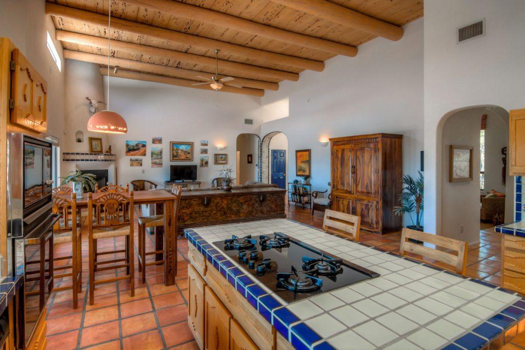 secluded desert rental kitchen