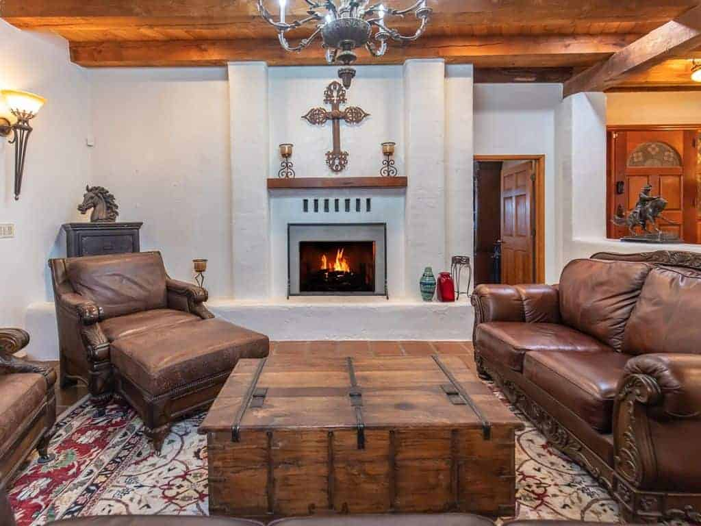 The Ranch Family Room Fireplace