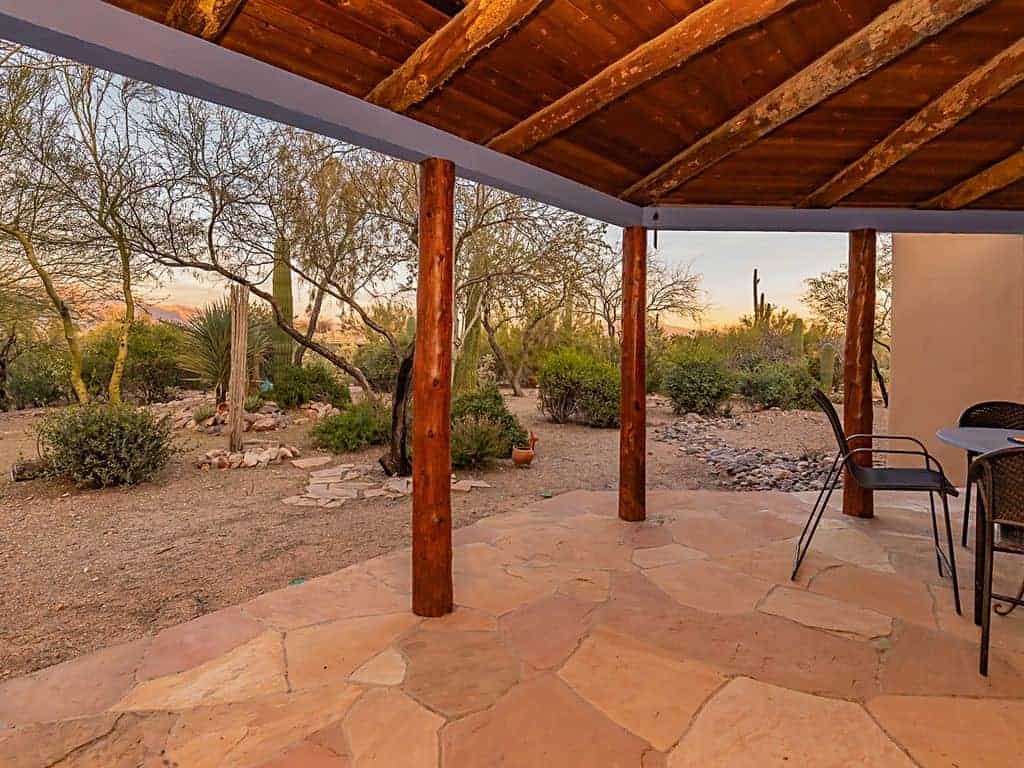 Ironwood Vista covered patio view