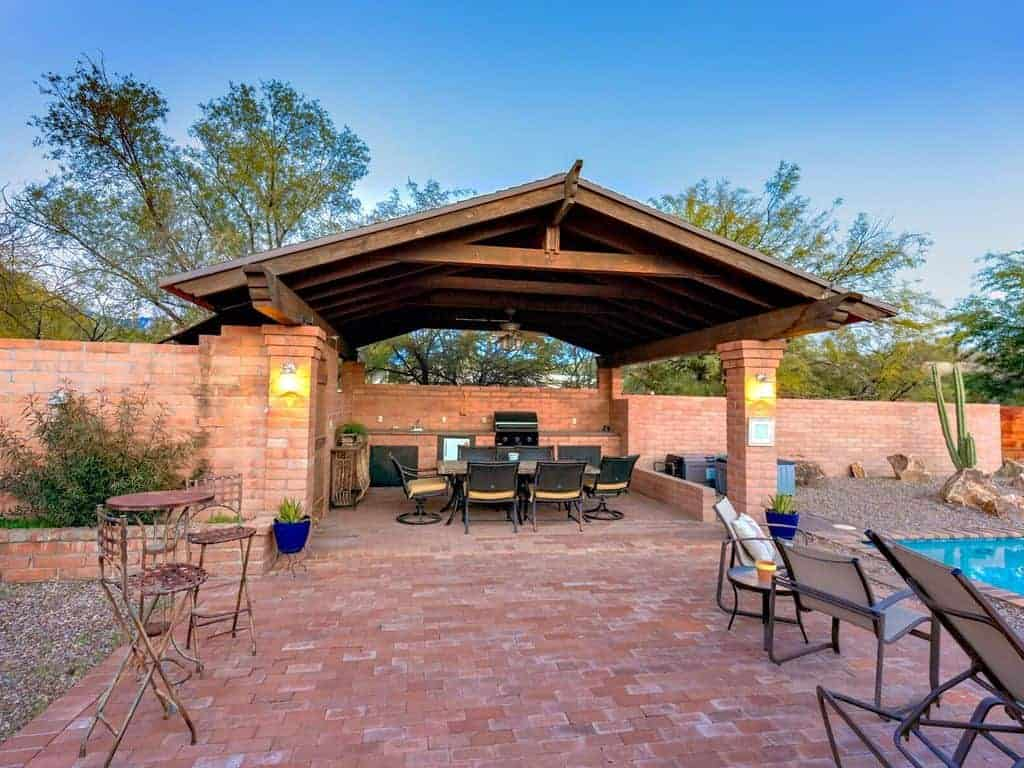 Yvon backyard covered dining and grill