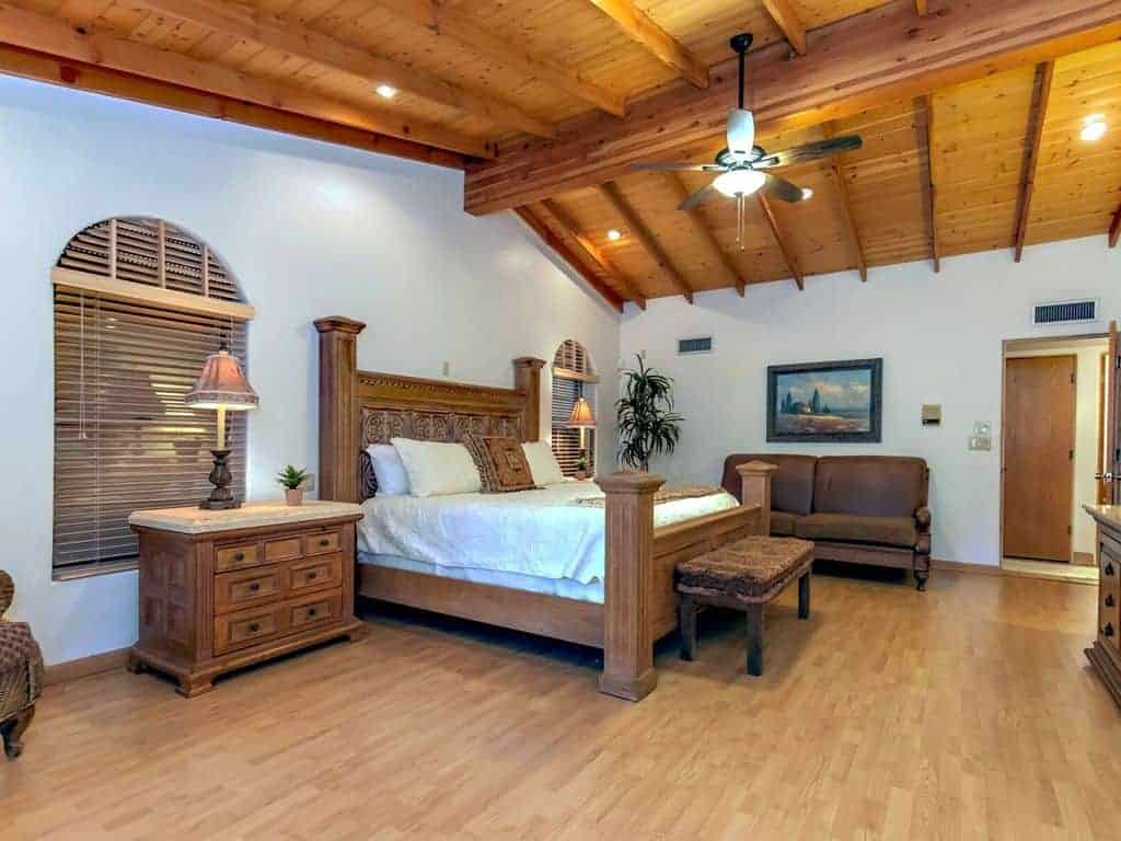 Oracle Foothills Estate Luxury Vacation Rental Master Bedroom Tucson, AZ