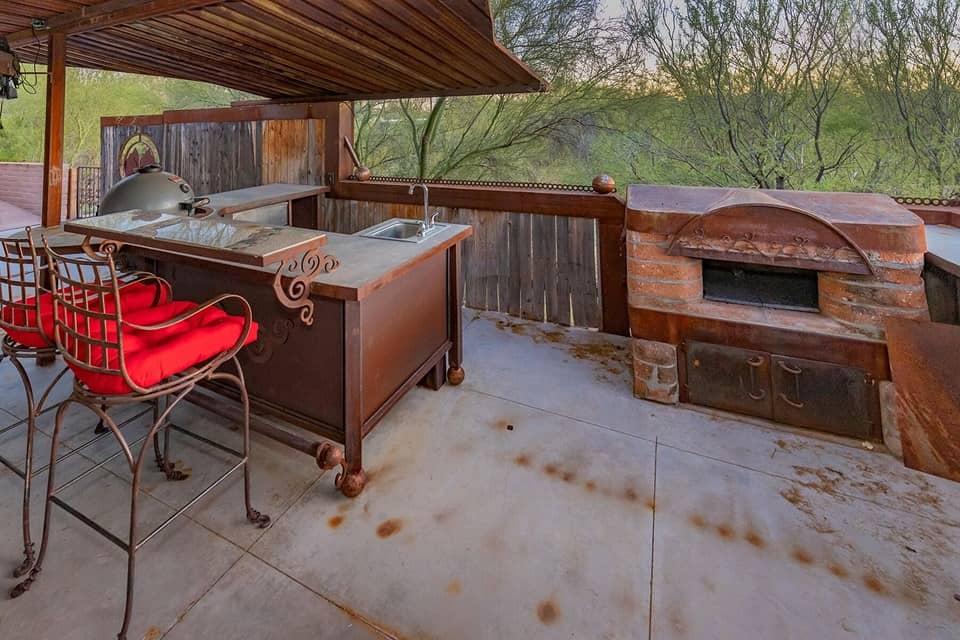 casa velo outdoor kitchen