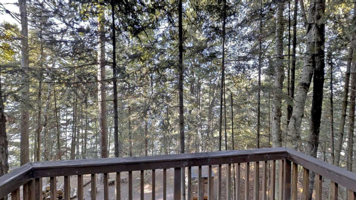 Big Trout Lake Cottage Deck-view