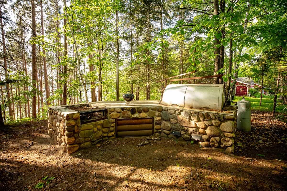 Big Trout Lake Lodge outdoor grill
