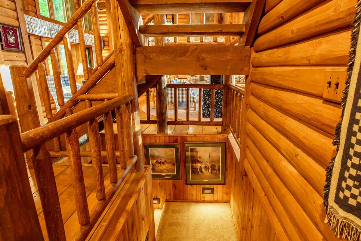 Big Trout Lake Lodges stair well