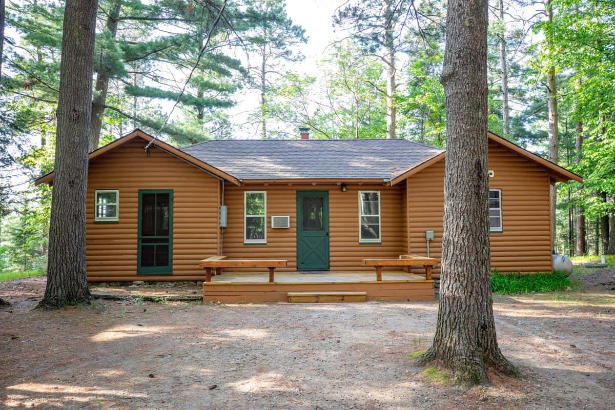 Big Trout Lake Rustic Cabin Front View